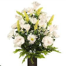 White Peony and Daisy Mix, featuring the Stay-In-The ... - Amazon.com