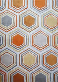geometric contemporary grayyellow indoor area rug  rug addiction