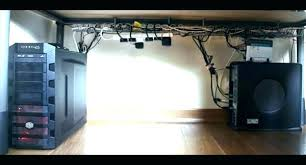 office desk cable management. Cable Management Ideas Office Fancy Desk Cord Computer Desktop Solutions Awesome Interior