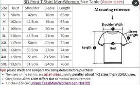 Asian T Shirt Measurement Chart Details About Musical Rock Band Asking Alexandria 3d Printed Women Mens Fashion T Shirts