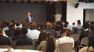 action is what makes you successful career day inspires charles o connell founder of fitscript addresses freshmen at pathways academy of technology and design