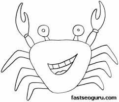 printable sea animal crab coloring pages_704288532 printable sea animal crab coloring pages printable coloring on easy crab coutout templates