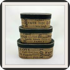 Stacking Decorative Boxes Inspirational Words Stacking boxes Country Primitive 2