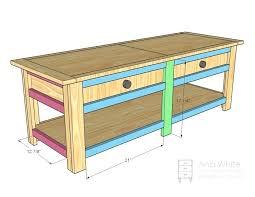 coffee table with storage plans pallet coffee table with storage plans