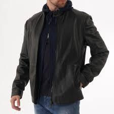 lamb leather biker jacket black