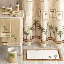 palm tree fabric shower curtain birthday cake ideas