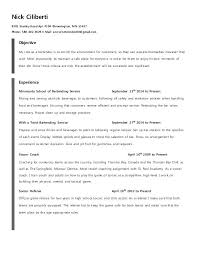 Sample Bartending Resume Bartender Resume Examples Bartender Resume ...