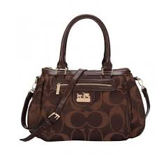 Coach Madison In Monogram Medium Coffee Satchels BUP