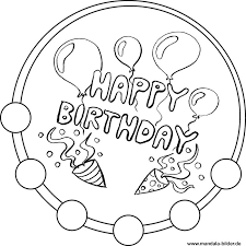 Kleurplaat Verjaardag Opa 60 Happy Birthday Mandala Vorlage