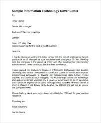 Application Letter Sample For Information Technology Cover Letter