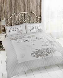 paris duvet cover set for single double and king size bed