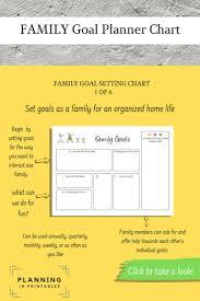 Household Planner Family Planner Printable Family Goal