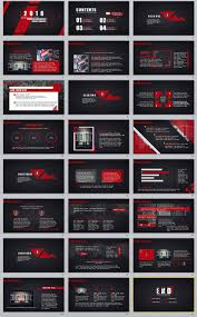 24 Red Black Professional Powerpoint Templates