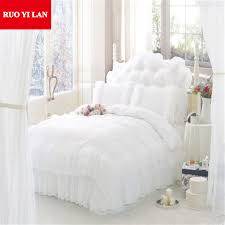 bedroom contemporary ruffle bedding twin lovely 4 6pcs jacquard princess bedding set queen king size