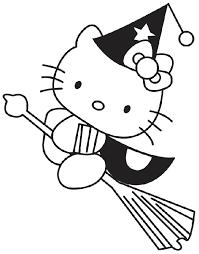 Hello Kitty Strega Da Colorare Cose Per Crescere