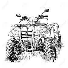 1300x1300 sketch vector illustration quad bike silhouette atv logo design
