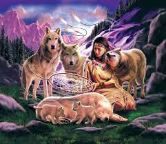 native american dreamcatcher wolf. Wonderful Dreamcatcher Dreamcatcher Native American Jigsaw Puzzle And Wolf R