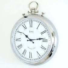 oversized pocket watch wall clock beautiful large silver from and style uk