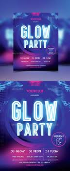 glow flyer glow party flyer glow party party flyer and flyer template