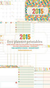 Calendar Planner Printable 2015 Free Planner And Calendar More 2015 The Handmade Home