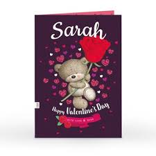 Valentines Cards For Her Personalised Valentines Day Cards For