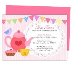 tea party templates afternoon tea party invitation party templates printable diy edit in