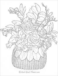 Small Picture Realistic Flower Coloring Pages Free Coloring Pages