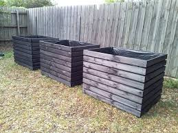 extra large planter boxes stained in black craft ideas large planter boxes  extra large planter boxes