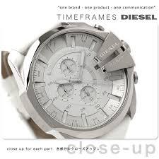 nanaple rakuten global market diesel watch men chronograph diesel watch men chronograph white leather belt diesel dz4292