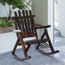 rustic outdoor patio adirondack rocking chair furniture porch chairs plans rustic a chiar rus