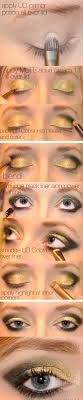 35 glitter eye makeup tutorials gilded eye with highlight and eyeshadow step by step