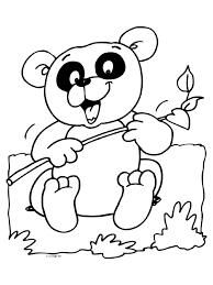 Kleurplaat Koalabeer Bamboe Kleurplatennl
