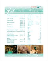 Spa Menu Of Services Template 24 Spa Menu Templates Free Sample Example Format Download
