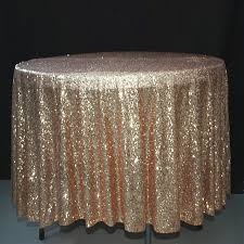 90 inch round gold sequin tablecloth overlay