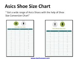 Asics Women S Shoe Size Chart Buy Your Favorite Shoes By Using Shoe Size Conversion Chart