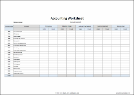 Sample Accounting Excel Spreadsheet Accounting Worksheet Template Double Entry Bookkeeping