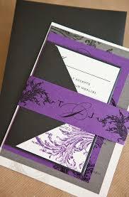 Black And Purple Invitations Black White And Purple Wedding Ideas