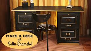 office desk with filing cabinet. HOW TO: Office Desk Makeover With Filing Cabinet