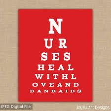 Nurse Eye Chart Printable Nurses Heal With Love And