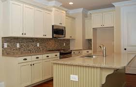 Exceptional Kitchen: Astonishing White Shaker Antique Kitchen Cabinet With Mosaic Tiles  Backsplash   Kitchen Paint Colors