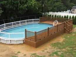 square above ground pool. Above Ground Swimming Pools With Decks Design Deboto Home   Square Pool U