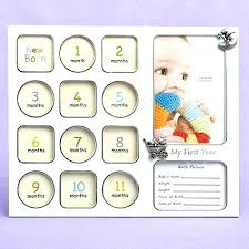 12 month picture frame baby template my first year photo collage print frames to months baby girl 12 month picture frame