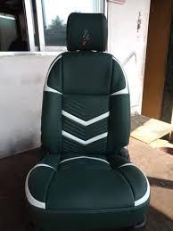 white hi tech car seat cover