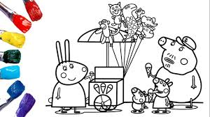 I suggest laminating to not only make them more durable, but to also make the activity reusable. Peppa Pig Coloring Pages Miss Rabbit S Ice Cream Coloring Book For Kids Youtube