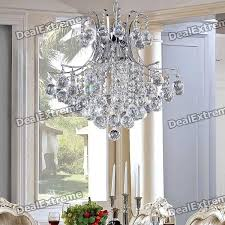 elegant 6 light chrome crystal chandelier