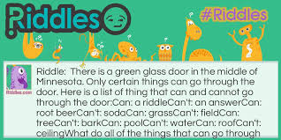 green glass door riddle