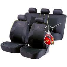 elegance car seat cover black grey