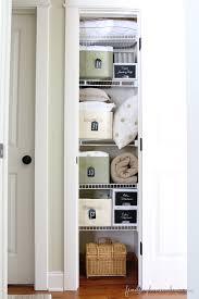 Bathroom Closet Organization Ideas Interesting 48 Beautifully Organized Linen Closets The Happy Housie