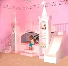Princess Bedroom Set Girls Castle Bed With Slide Luxury Conns – Free ...