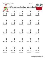Free Christmas Worksheets - Page 2 of 4 - Have Fun TeachingChristmas Single Digit Addition Worksheet